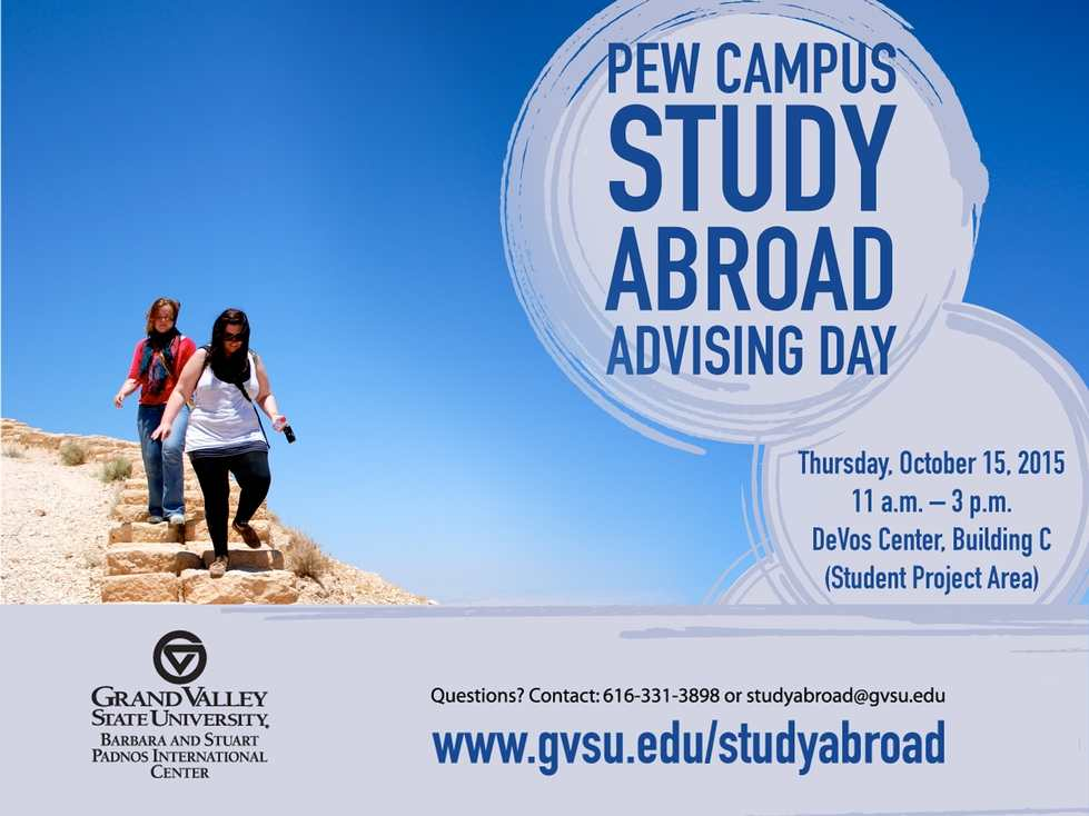 Pew Study Abroad Advising Day